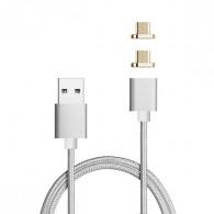 Câble magnétique 2 Plugs Micro-USB