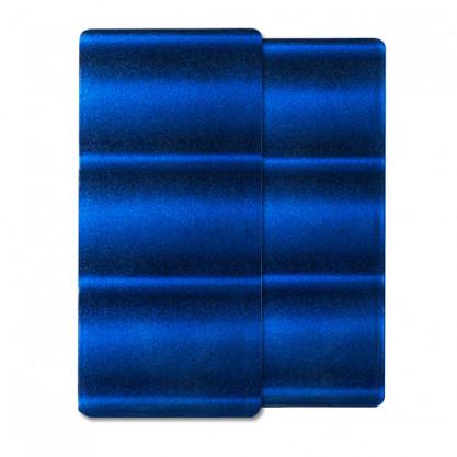 Panneau Laque 3D Vague Bleue